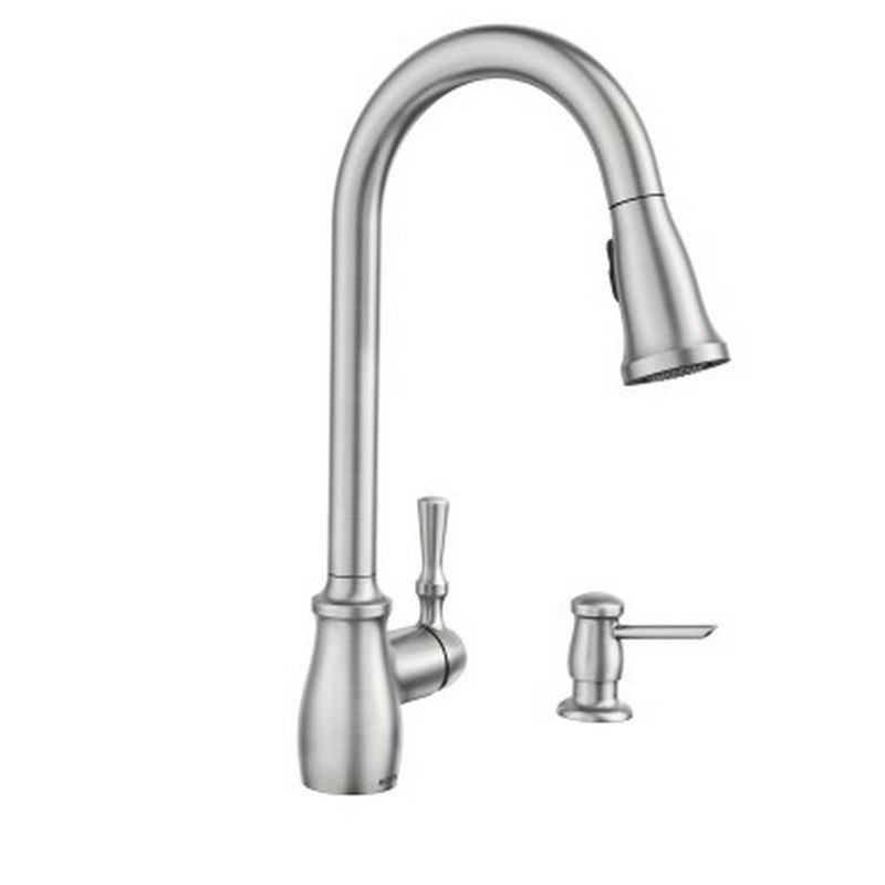 Pull Down Kitchen Faucet In Spot Resist