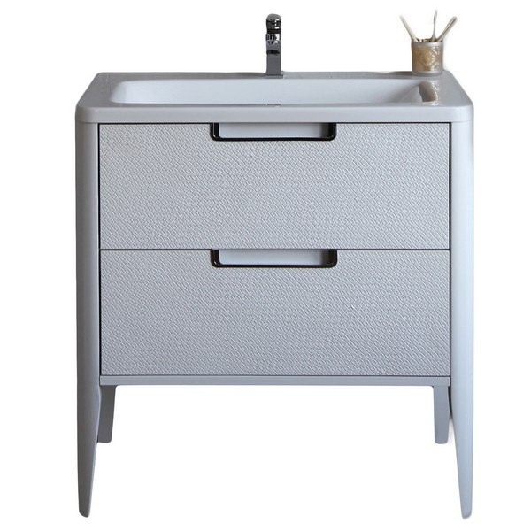 . EVIVA EVVN72 26WH JASMINE 26 INCH BATHROOM VANITY IN WHITE AND WHITE  INTEGRATED ACRYLIC COUNTERTOP