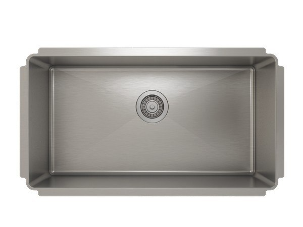 JULIEN IH75-US-321810 PROINOX H75 32 INCH UNDERMOUNT SINGLE BOWL 18 GAUGE STAINLESS STEEL KITCHEN SINK
