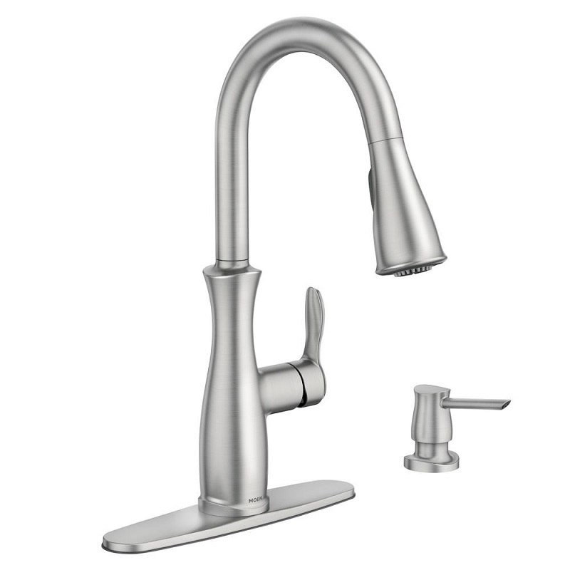 MOEN 87794SRS NELLIS SPOT RESIST STAINLESS ONE-HANDLE PULLDOWN KITCHEN  FAUCET