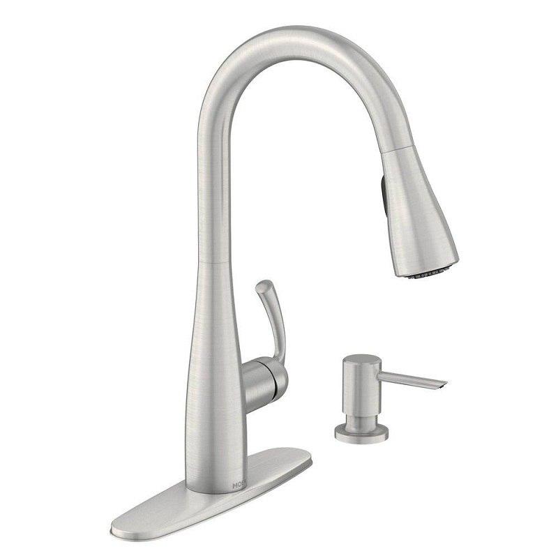 Moen 87014ewc Essie Motionsense Wave One Handle Pulldown Kitchen Faucet Moen 87014bl Essie Motionsense Wave