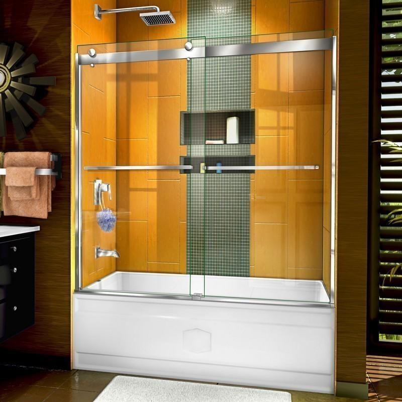 DREAMLINE SHDR-6360602 SAPPHIRE 56-60 W X 60 H SEMI-FRAMELESS BYPASS TUB DOOR
