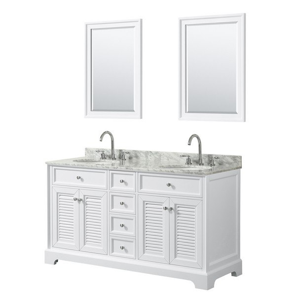 Modetti Mod884wh 60 Palm Beach 60 Inch Double Bathroom Vanity Set In White
