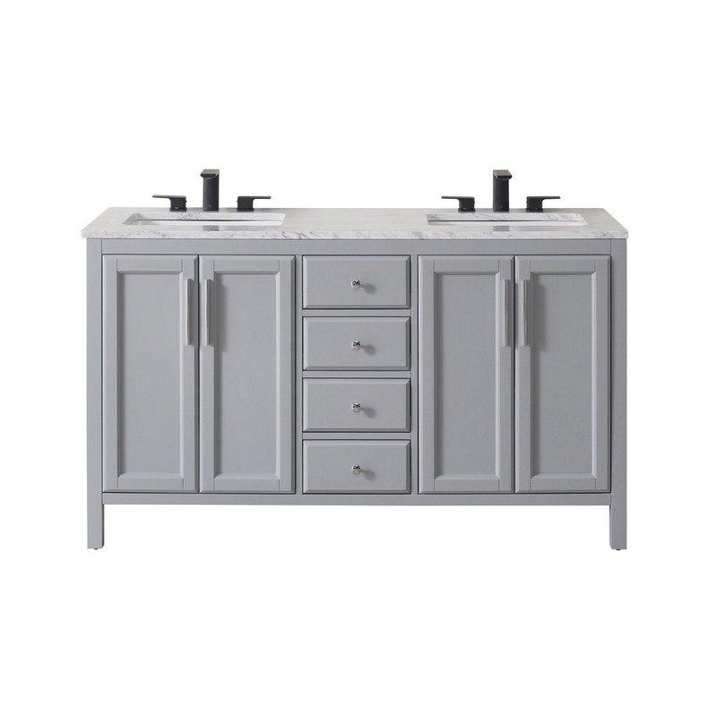 Stufurhome Sy 900g 59 Cr Wright 59 Inch Grey Double Sink Bathroom Vanity