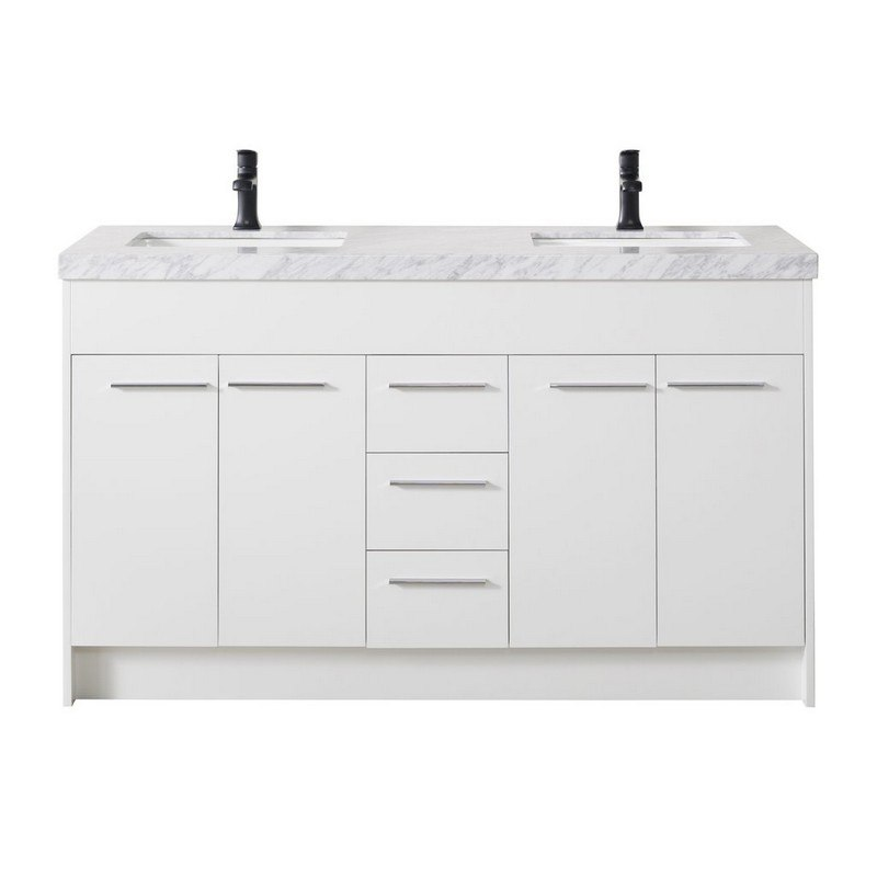 9001mb Lotus 60 Inch White Double Sink