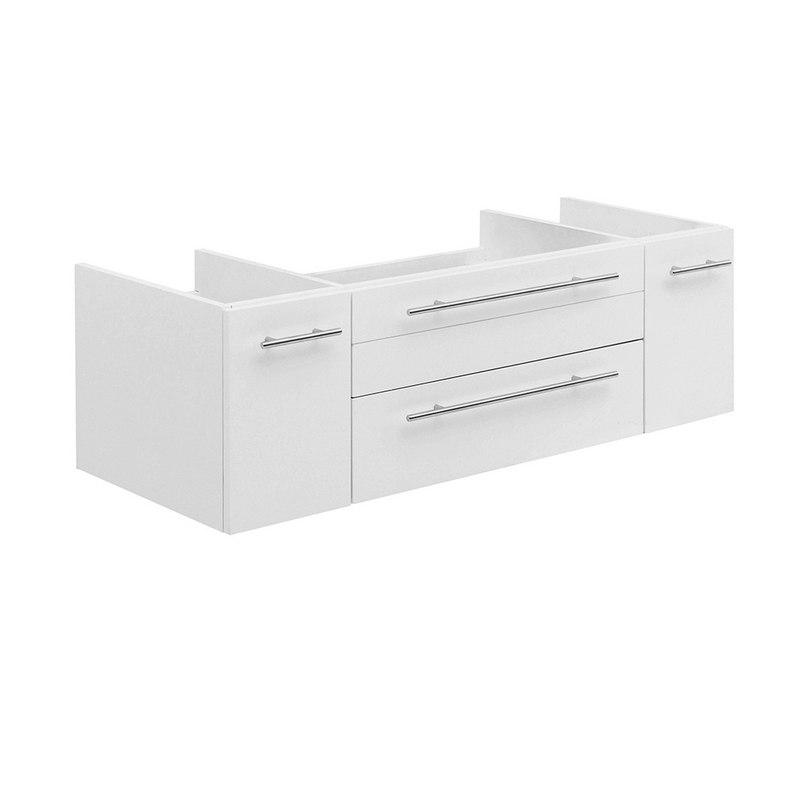 FRESCA FCB6148WH-UNS LUCERA 48 INCH WHITE WALL HUNG UNDERMOUNT SINK MODERN BATHROOM CABINET