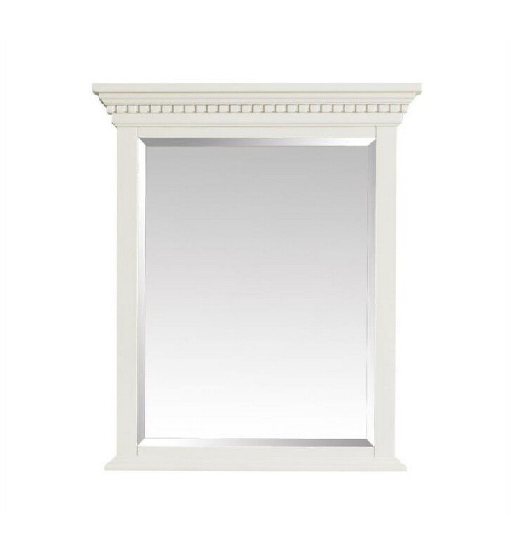 Avanity Hastings M28 Fw Hastings 28 Inch Wall Mount Rectangular Framed Beveled Edge Mirror In French