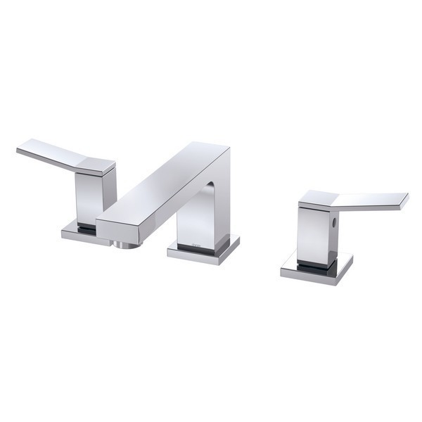 DANZE D304119 AVIAN TWO-HANDLE CENTERSET LAVATORY FAUCET WITH METAL TOUCH DOWN DRAIN, 1.2 GPM