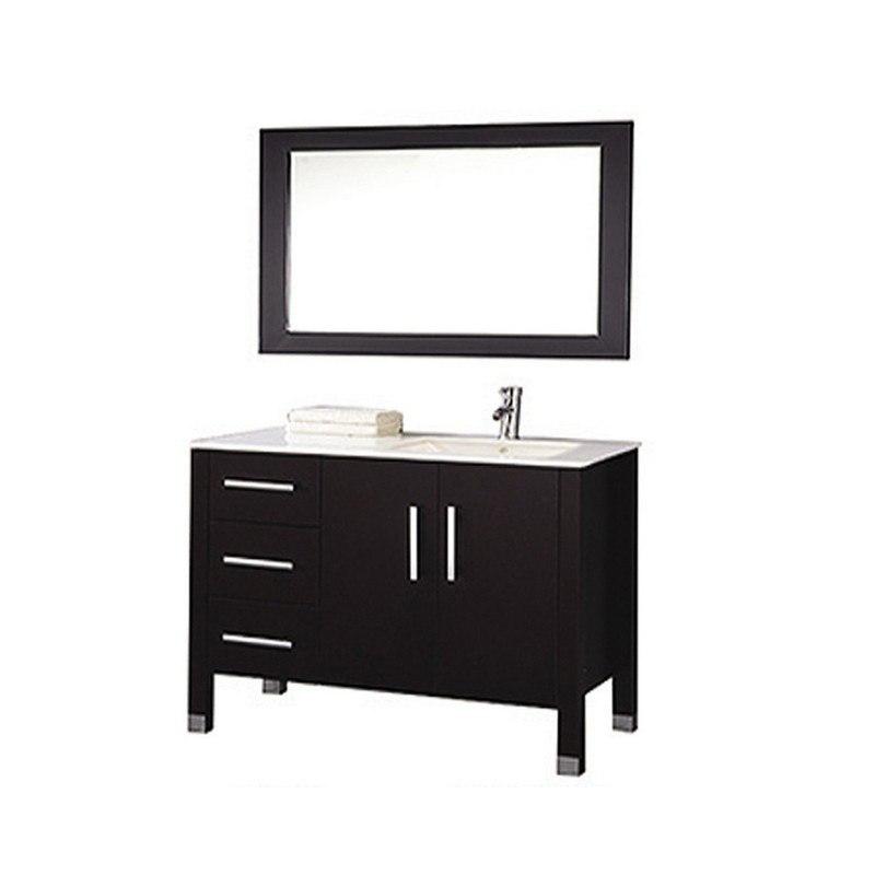 Mtd Mtd 8118c Re Monaco 40 Inch Single Sink Bathroom Vanity In Espresso Sink On Right Side Mtd 8118c Re Mtd8118cre