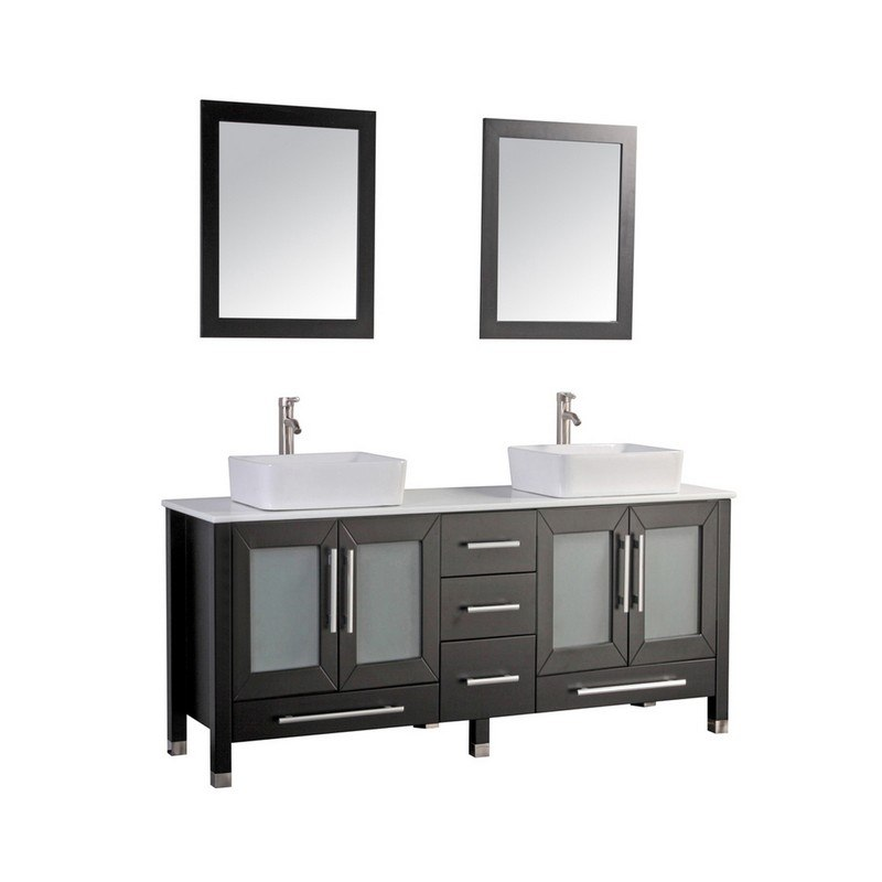 MTD MTD-8119E MALTA 71 INCH DOUBLE SINK BATHROOM VANITY IN ESPRESSO
