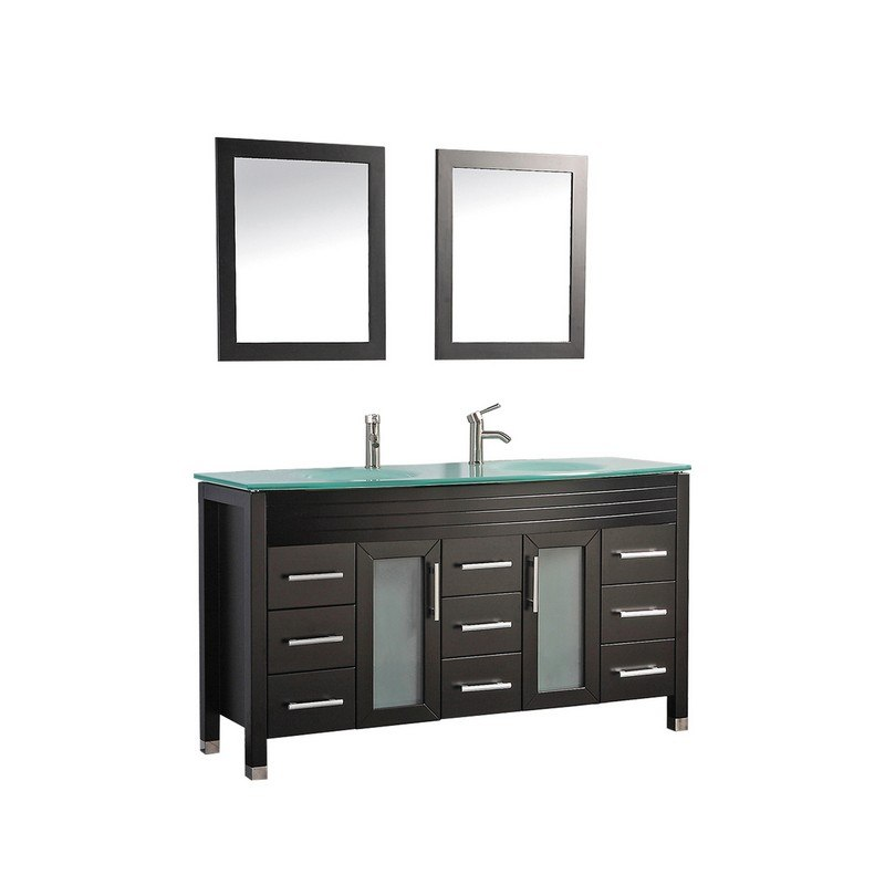 MTD MTD-8129AE FIGI 71 INCH DOUBLE SINK BATHROOM VANITY IN ESPRESSO