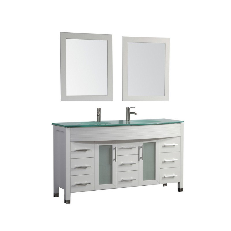 MTD MTD-8129AW FIGI 71 INCH DOUBLE SINK BATHROOM VANITY IN WHITE