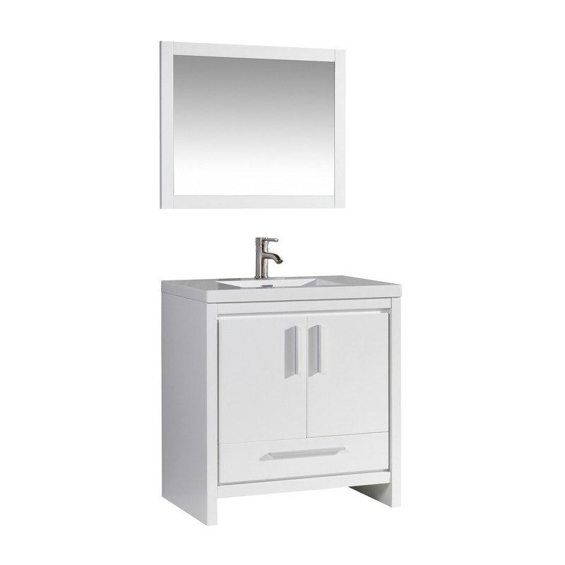 Mtd Mtd Mi36w Miami 36 Inch Single Sink Bathroom Vanity In White Mtd Mi36w Mtdmi36w