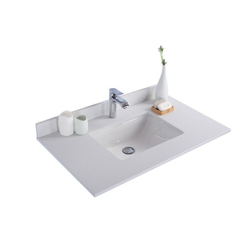 White Quartz Countertop 36 Inch