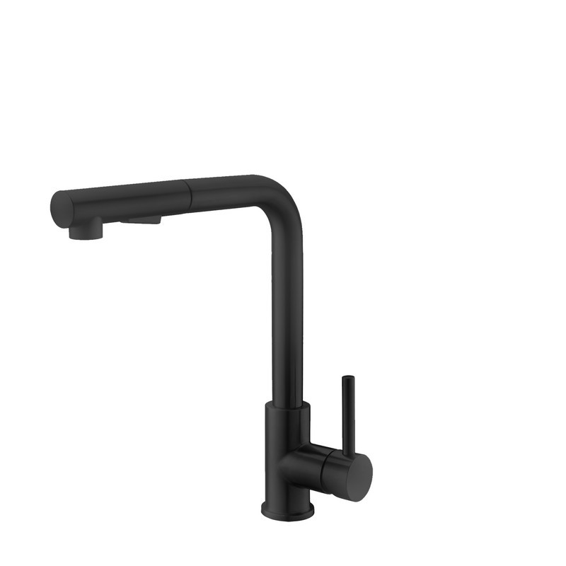 STYLISH K-130N PULL DOWN KITCHEN FAUCET IN MATTE BLACK