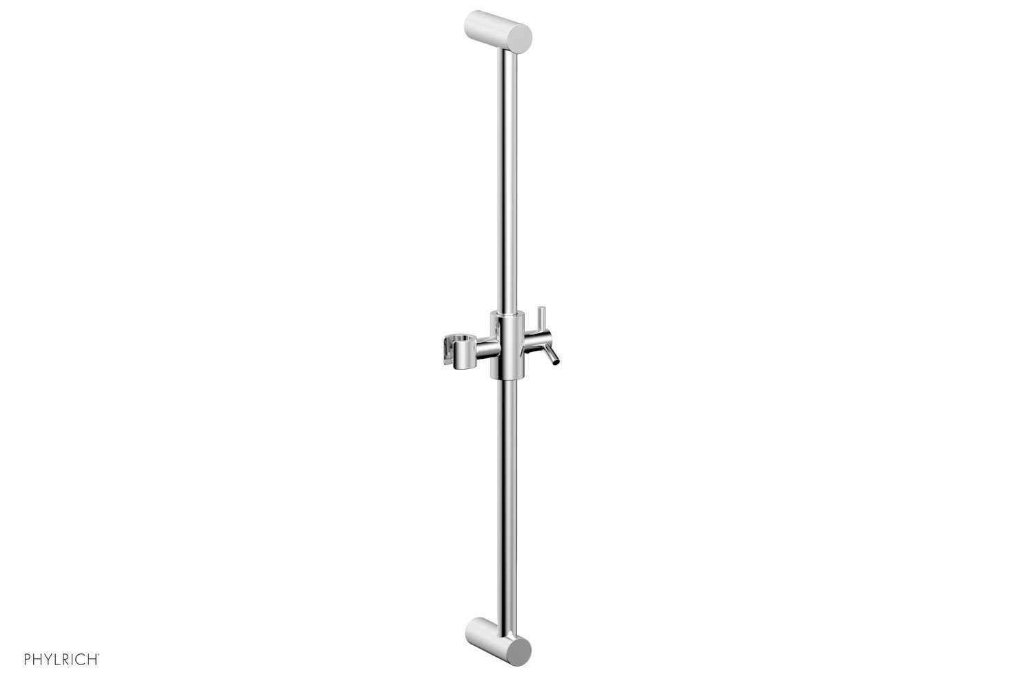 PHYLRICH K6025 WALL MOUNT 24 INCH ADJUSTABLE SLIDE BAR WITH HOOK