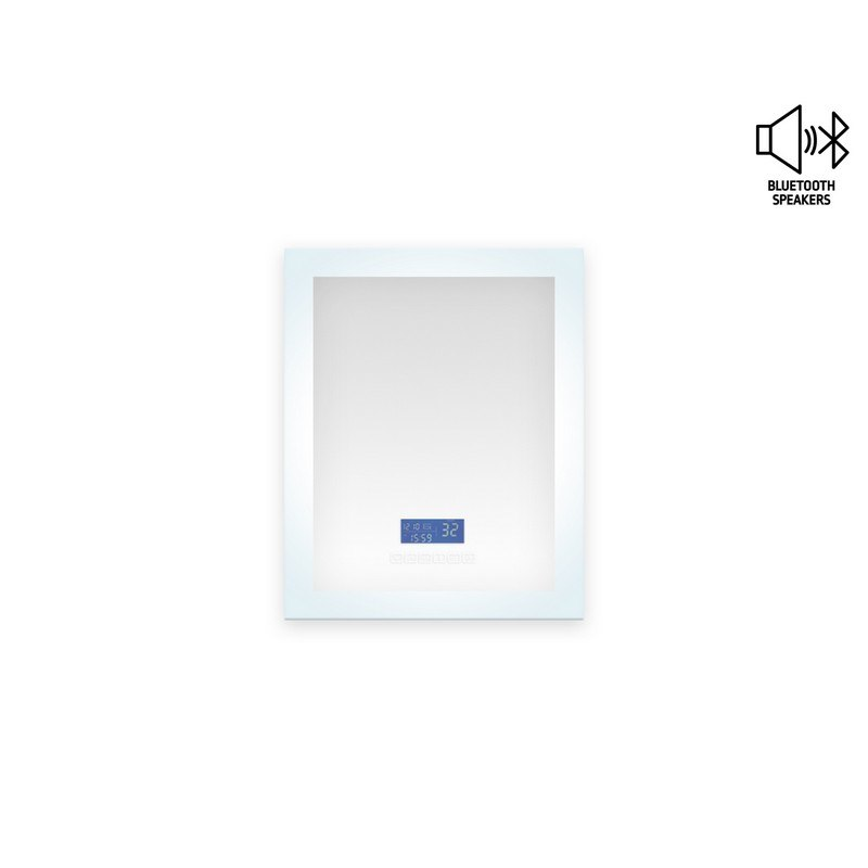 Mtd Mtd 10224 Encore Led Illuminated Bathroom Mirror With Built In Bluetooth Speaker With Blue Screen