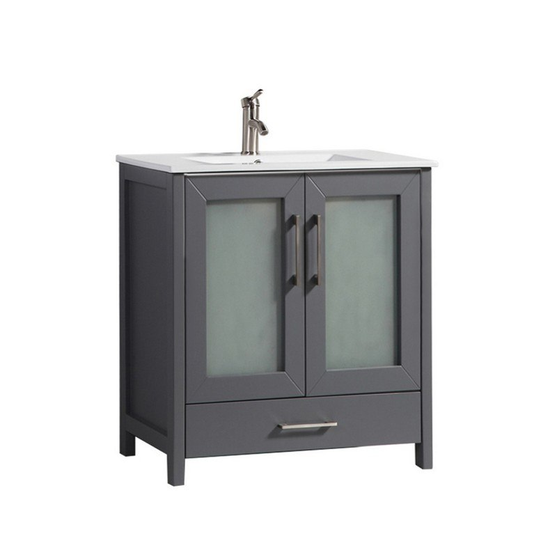 . MTD MTD 1030G N AREZZO 30 INCH SINGLE SINK MODERN BATHROOM VANITY IN GREY