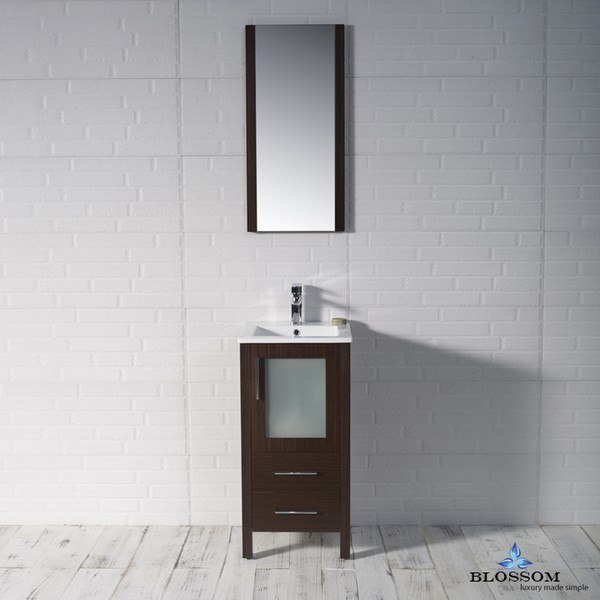 Blossom 001 18 03 Sydney 18 Inch Vanity Set With Mirror In Wenge