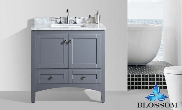 BLOSSOM 003 36 15 NM DUBAI 36 INCH VANITY IN CHARCOAL GREY