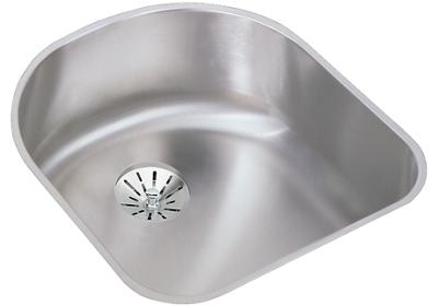 Elkay ELUH1716PD Stainless Steel 18-1/2 L x 20 W x 7-1/2 D Undermount Kitchen Sink with Perfect Drain