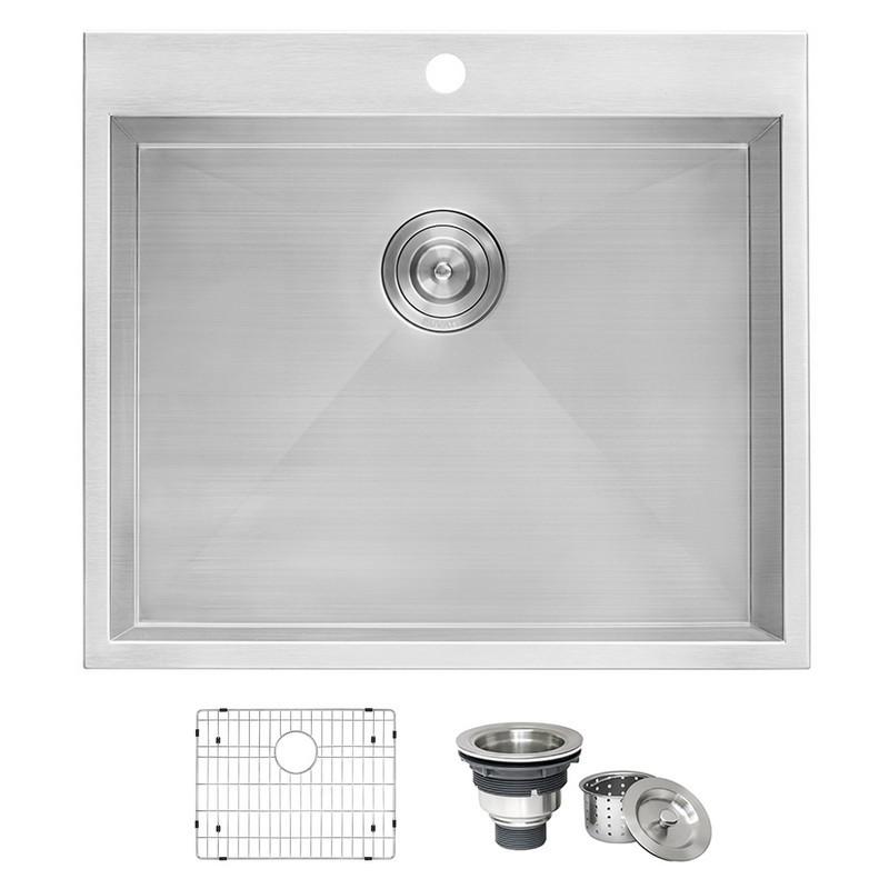 Kitchen Sink 25 X 22 Ruvati rvu6010 topmount laundry utility sink 25 x 22 inch deep ruvati rvu6010 topmount laundry utility sink 25 x 22 inch deep stainless steel workwithnaturefo