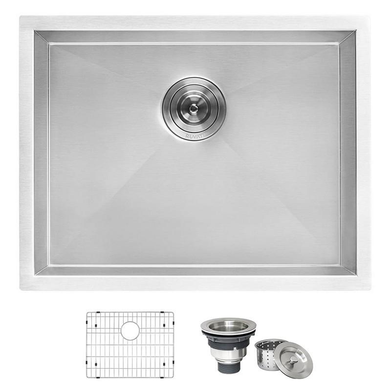 Genial Ruvati RVU6100 Undermount Laundry Utility Sink 23 X 18 Inch Deep Stainless  Steel