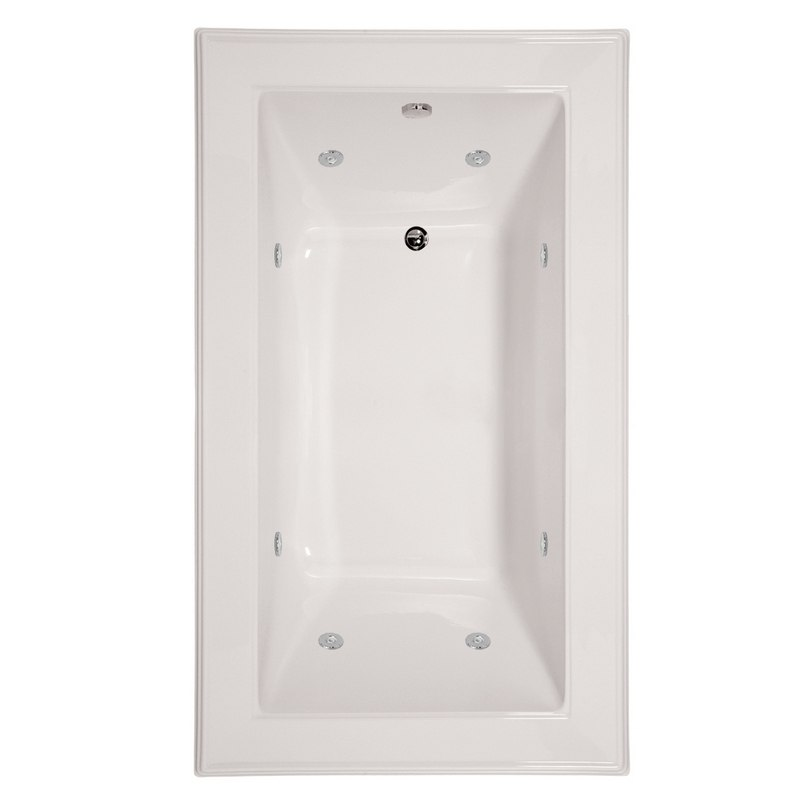 HYDRO SYSTEMS ANE7242ACO DESIGNER COLLECTION ANGEL 72 X 42 INCH ACRYLIC DROP-IN BATHTUB WITH COMBO SYSTEM