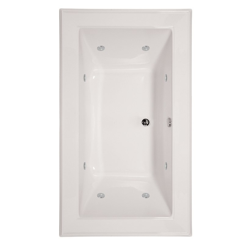 HYDRO SYSTEMS ANG6642ACO DESIGNER COLLECTION ANGEL 66 X 42 INCH ACRYLIC DROP-IN BATHTUB WITH COMBO SYSTEM