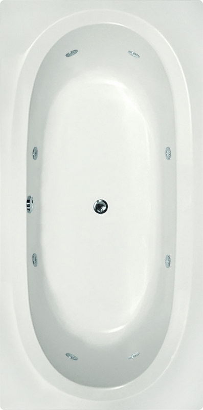 HYDRO SYSTEMS CAR7236GWP DESIGNER COLLECTION CARIBE 72 X 36 INCH GEL COAT DROP-IN BATHTUB WITH WHIRLPOOL SYSTEM