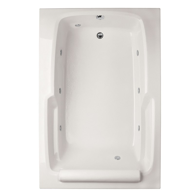 HYDRO SYSTEMS DUO6648ACO DESIGNER COLLECTION DUO 66 X 48 INCH ACRYLIC DROP-IN BATHTUB WITH COMBO SYSTEM