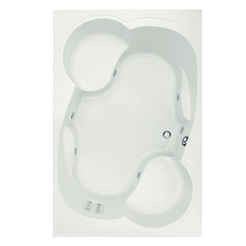 HYDRO SYSTEMS MAK7548AWP DESIGNER COLLECTION MAKYLA 75 X 48 INCH ACRYLIC DROP-IN BATHTUB WITH WHIRLPOOL SYSTEM