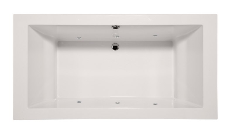 HYDRO SYSTEMS MEN7036ACO DESIGNER COLLECTION MELLENIE 70 X 36 INCH ACRYLIC DROP-IN BATHTUB WITH COMBO SYSTEM
