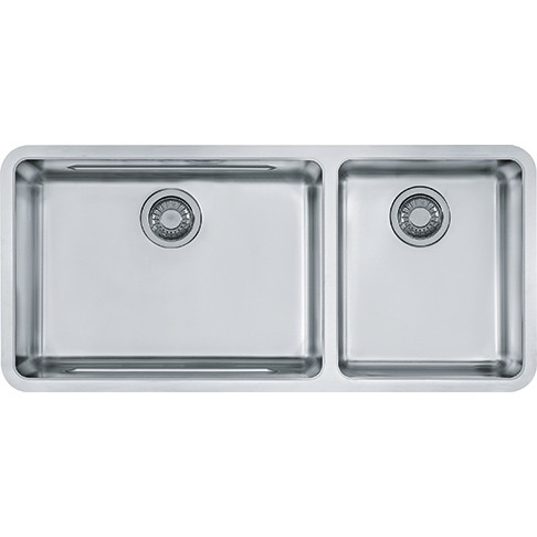 Franke Kbx12039 38 Inch 39kubus39 Undermount Double Bowl Stainless Steel Sink