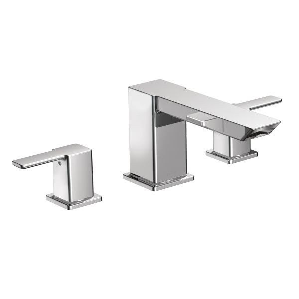 MOEN TS903 90 DEGREE TWO-HANDLE ROMAN TUB FILLER