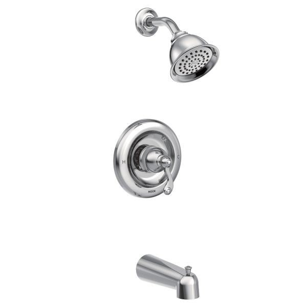 MOEN T2123EP TRADITIONAL ECO-PERFORMANCE POSI-TEMP PRESSURE BALANCE TUB AND SHOWER PACKAGE