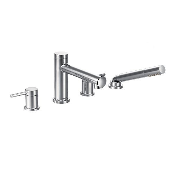 MOEN T394 ALIGN TWO-HANDLE ROMAN TUB FILLER WITH HANDSHOWER