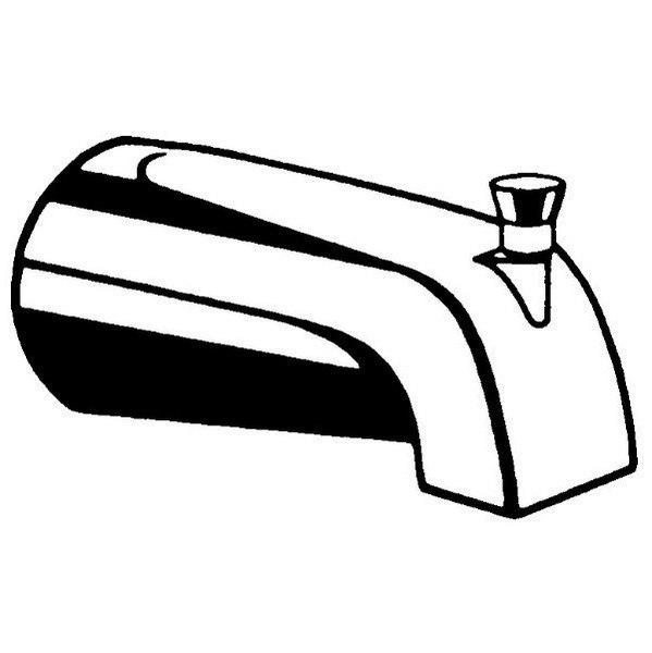 MOEN 15856 COMMERCIAL 5-1/2 INCH SLIP FIT VANDAL-RESISTANT TUB SPOUT IN CHROME