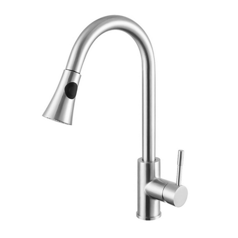 INFURNITURE F-K751QY1-CH PULL OUT KITCHEN FAUCET IN CHROME