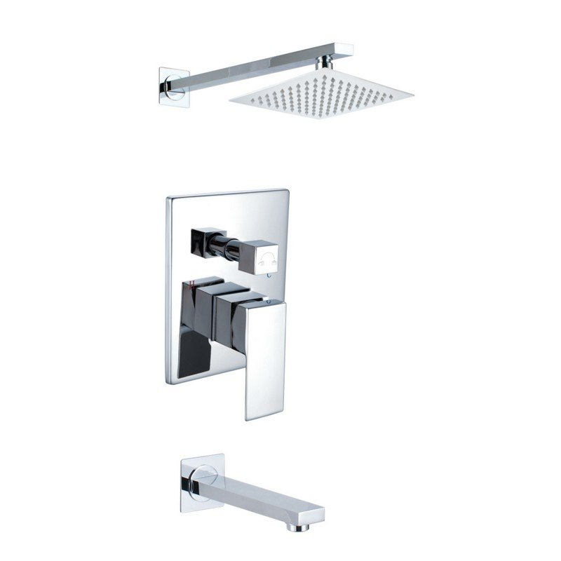 INFURNITURE F-S548W1-CH SHOWER FAUCET SET IN CHROME