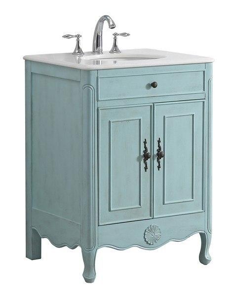 Modetti Mod081lb 26 Provence 26 Inch Single Bathroom Vanity Set In Light Blue