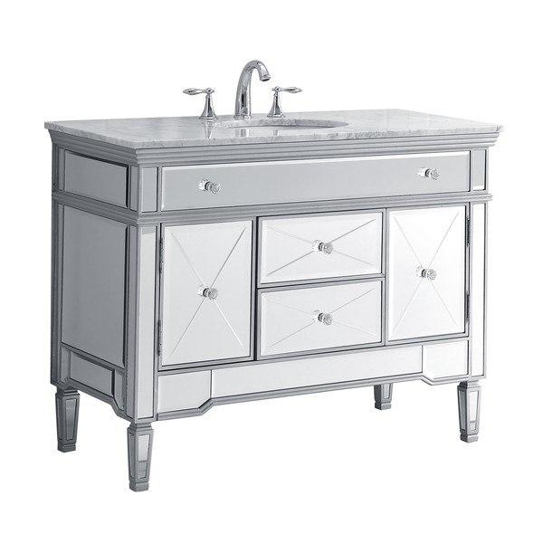 Modetti Mod755w Palazzo 44 Inch Single Bathroom Vanity Set In White