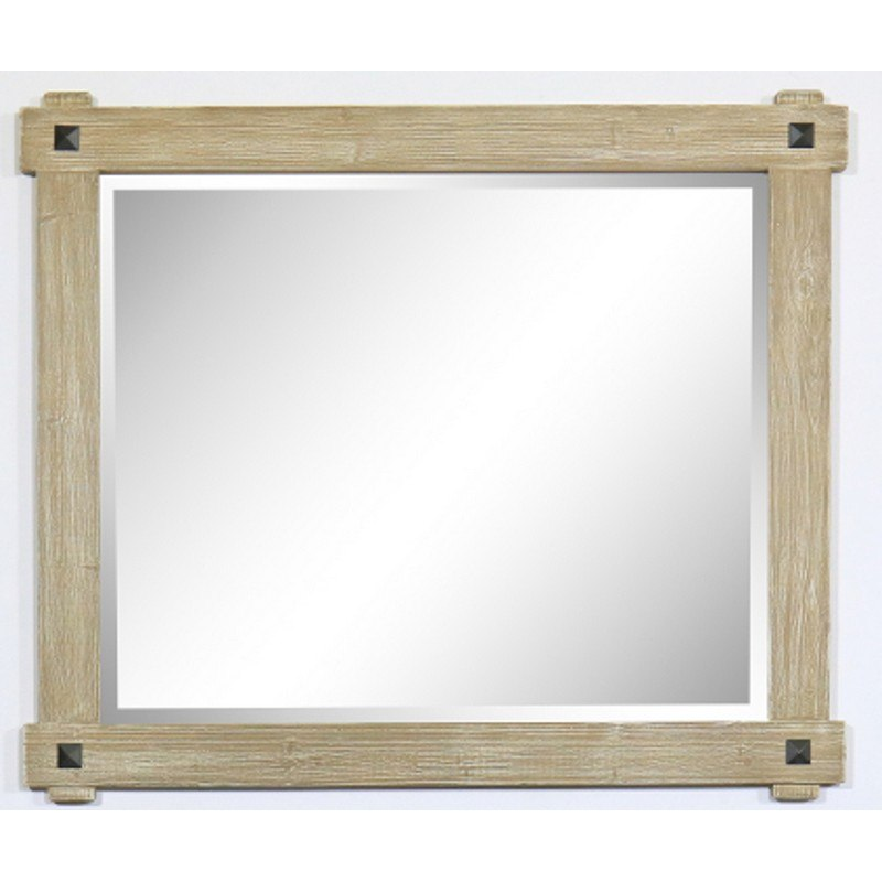 Infurniture Wk8242m 42 X 35 5 Inch Rustic Wood Framed Mirror