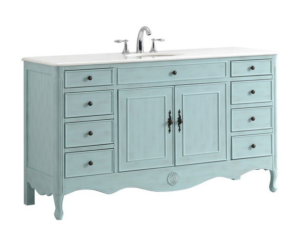 60 Inch Single Bathroom Vanity Set
