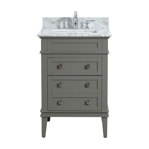 Modetti Mod10022lg 24 Rivoli Inch Single Bathroom Vanity Set In Light Grey