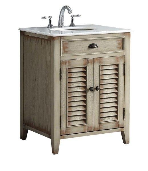 . Modetti MOD884BE 26 Palm Beach 26 Inch Single Bathroom Vanity Set in