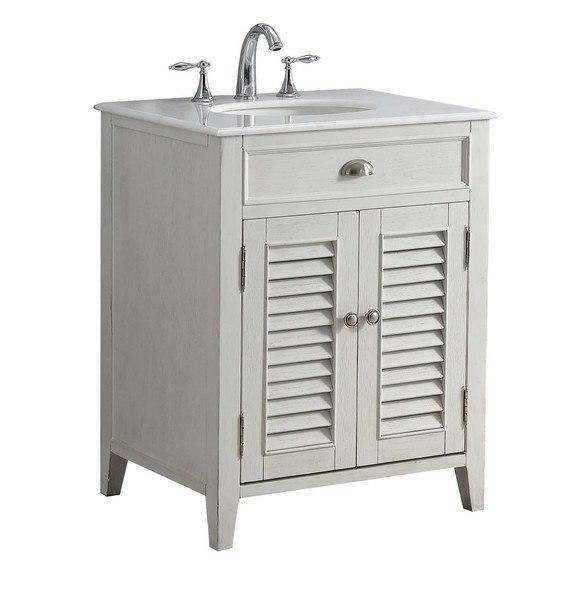 Modetti Mod884wh 26 Palm Beach Inch, Beach Bathroom Cabinets