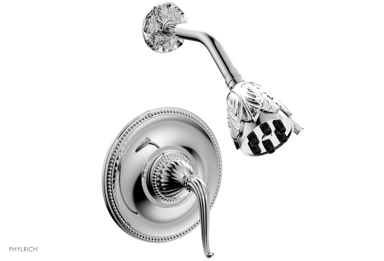 PHYLRICH PB3141 GEORGIAN & BARCELONA WALL MOUNT PRESSURE BALANCE SHOWER SET WITH LEVER HANDLE