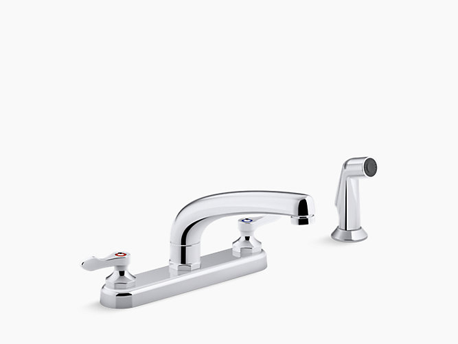Kohler K-810T21-4Afa-Cp Triton Bowe 1.8 Gpm Centerset Kitchen Faucet With  Lever Handles- Includes Side Spray