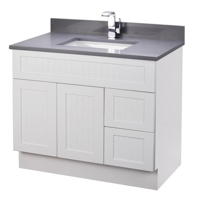 Cutler Kitchen And Bath Cotsw36t Stratford Collection 36 Inch Bathroom Vanity With Quartz Top In Cottage